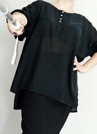 Черная блуза- туника zj denim identity plus size 22-26