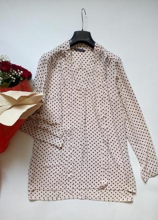 Красивейшая лёгкая блуза свободного кроя в горох 14