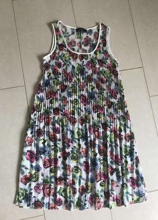 Платье плиссе туника стильная модная дорогой бренд blue joint размер s-m