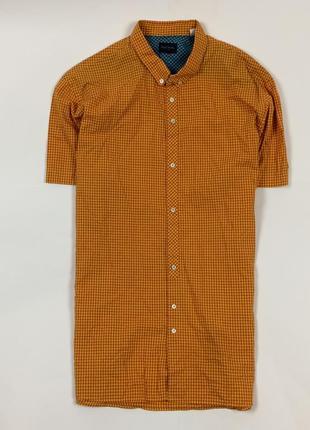 Рубашка paul smith мужская оранжевая в клетку пол смит размер l