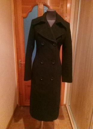 Пальто женское весна-осень черное