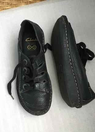 Туфли кожаные clarks повышенной комфортности
