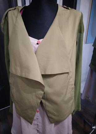 Жакет блузка из тканей компаньонов