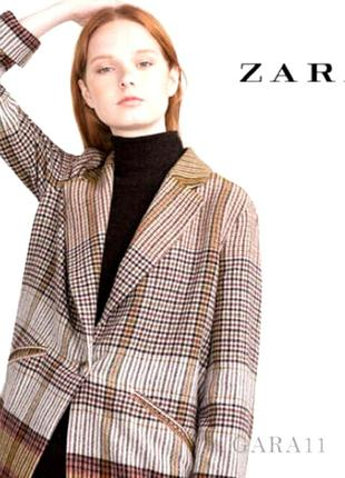 Zara. стильное шерстяное легкое пальто жакет