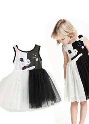 Платье черно белое h&m