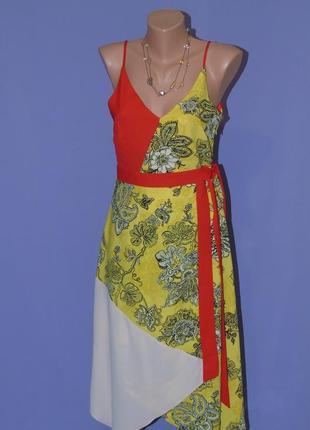 Комбинированное платье 10 размера