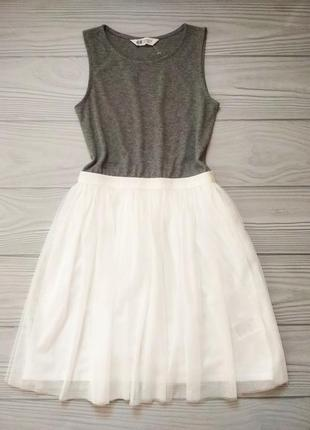 Платье  h&m  с фатиновой юбкой