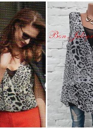 Замечательная шифоновая блуза с имитацией майки, размер 58-60 , новая