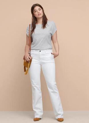 Шикарные белые джинсы на высокий рост 56/58 размер