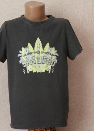 Pocopiano- футболка с рисунком-bio cotton в идеале-  9-10 лет