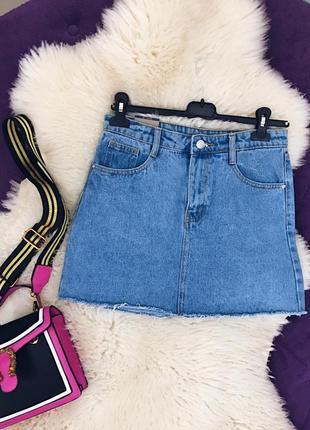 Стильная джинсовая юбка супер качество в наличии