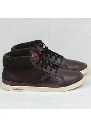 Теплые кроссовки кеды adidas calneo laidback mid оригинал 42-43р. 27,5 см.