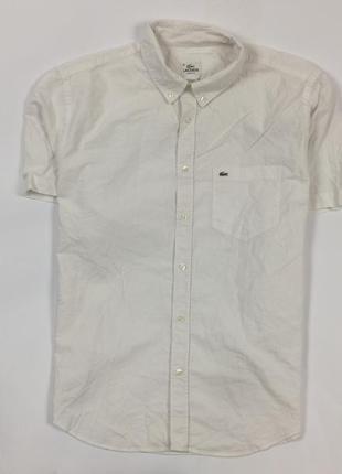Рубашка lacoste мужская белая лакосте размер xl+