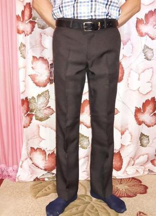 Классические, коричневые, демисезоные, новые брюки