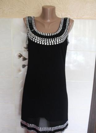 Нарядное платье с отделкой parisian в идеальном состоянии s-m