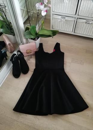 Чёрное платье от boohoo