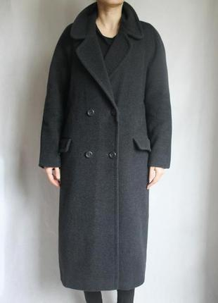 Зимнее шерстяное пальто бойфренд top line firenze. италия. размер м-л