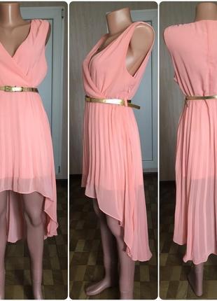 Платье длинное с плиссировкой misguided 12 р состояние нового