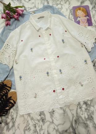 Белоснежная рубашка 22р