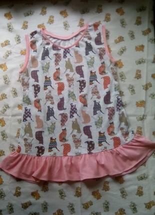 Платье-туничка для девочки 6-8