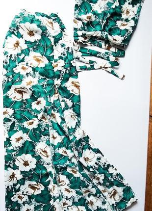 Очень стильный и красивый летний костюм топ и юбка в пол с разрезом от boohoo