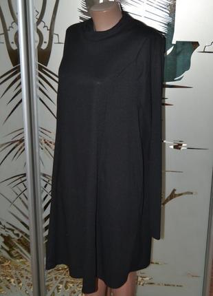 Платье туника в рубчик