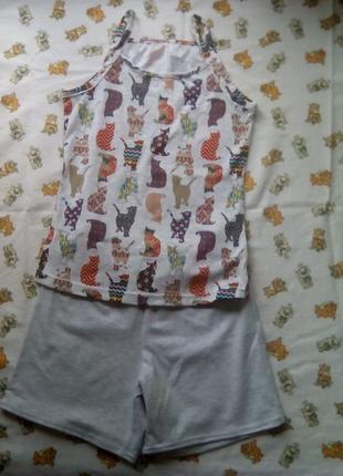 Комплект шорты и маечка на девочку 10 лет,рост 128