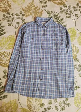 Фирменная красивая натуральная рубашка в клетку tu 100% коттон