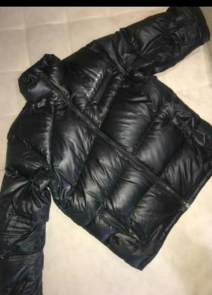 Черная зимняя куртка, пуховик salomon