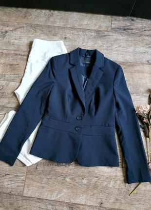 Новый нарядный блейзер пиджак жакет от next/синий в клетку-м-ка
