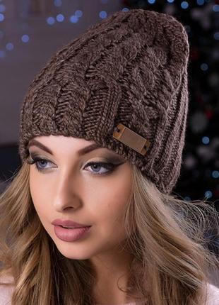 Стильная,теплая шапка