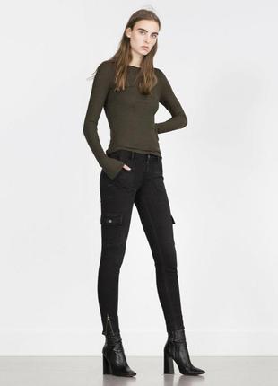 Трендовые джинсы брюки карго от zara