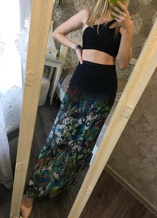 Длинная юбка в принт