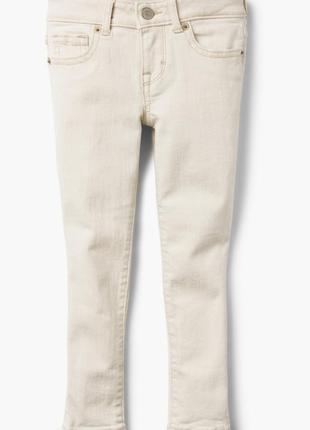 Скинни джинсы gymboree бежевые 12р.
