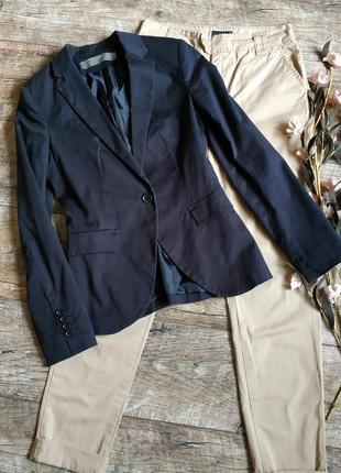 Блейзер пиджак по типу фрака от zara/темно синий/черный-xs-ка
