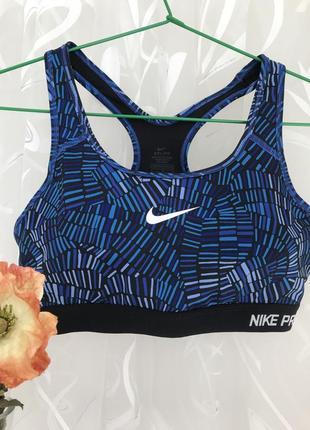 Спортивный 💙♥️💙 топ лиф майка футболка nike pro, dri fit.
