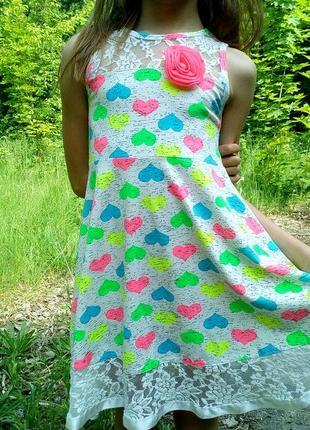 Летний легкий сарафан на девочку рост 128-140