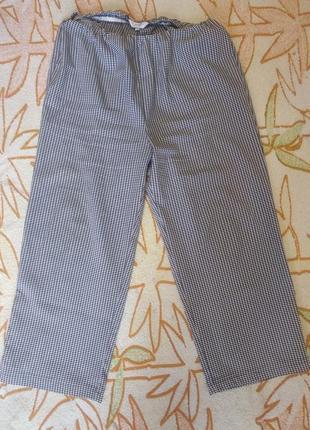 Распродажа -50% на все вещи !!!штаны ( укороченные)свободного кроя 52-54 (56р)