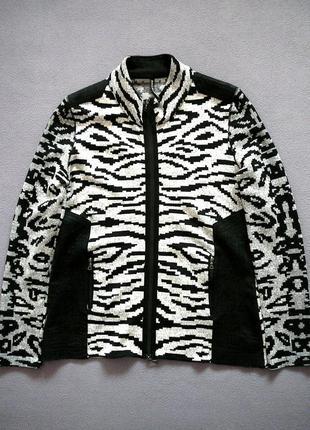 Пиджак, кофта на молнии marc cain sports, р. n3-n4