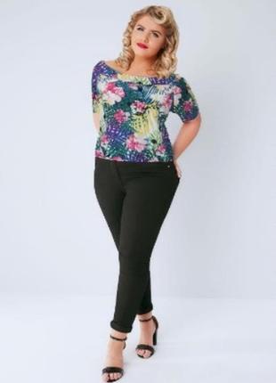Яркая разноцветная блуза с открытыми спущенными плечами топ anthology шри ланка этикетка