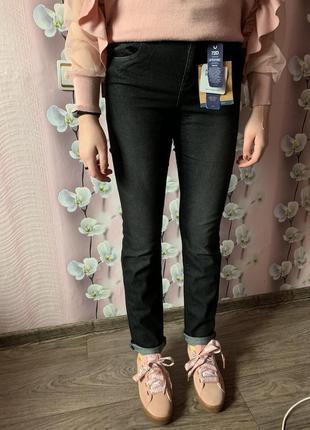 Новые шикарные джинсы высокая посадка ovs regular италия / mom zara