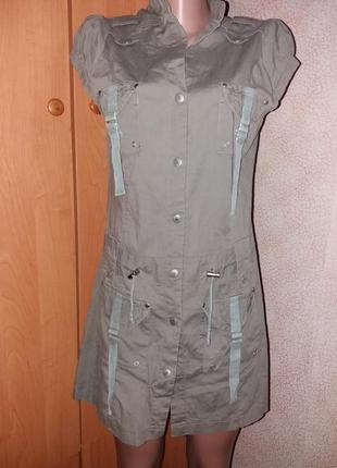 Платье-халат милитари