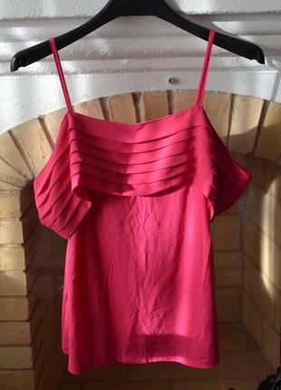 Цена до 31.08! новая малиновая блузка, топ с открытыми плечами от intimissimi