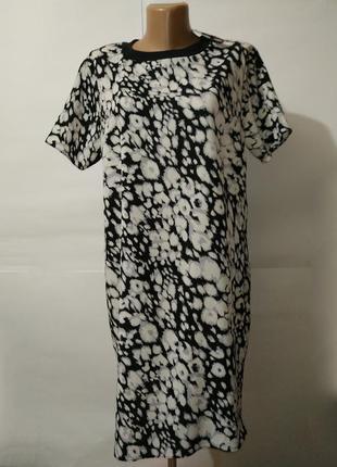 Платье туника новое легкое пятнистое f&f uk 14/42/l
