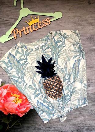 Модная футболочка на девочку ананасик