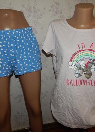 F&f пижама трикотажная футболка с шортиками р12-14