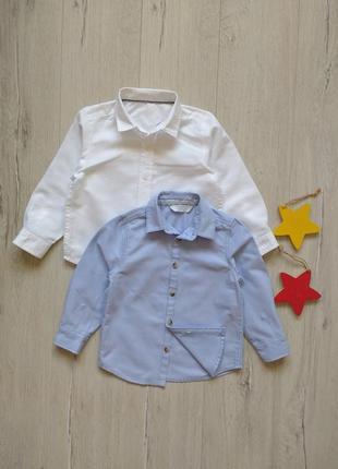 1,5-2 года, комплект рубашек m&s & primark.