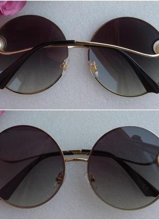 New! новые модные очки с бусинами, черные