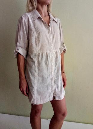 Базовая хлопковая блуза