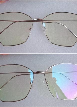Новые очки с антибликом для имиджа и для компьютера, серебристые